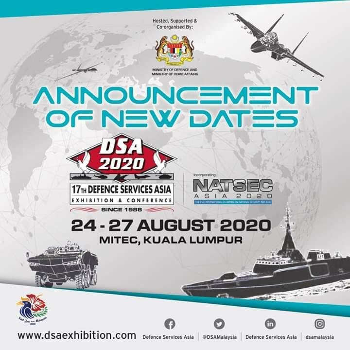 DSA 2020 -17th Defence Services Asia Exhibition and Conference